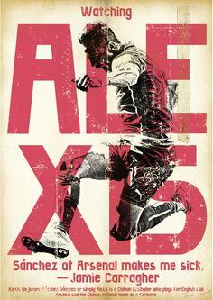 Affiche football vintage de Zoran Lucic, Alexis Sanchez Football Print Real Soccer, Soccer Art, Soccer Poster, Soccer Sports, Soccer Inspiration, Good Soccer Players, Football Design, Sport Icon, Arsenal Fc