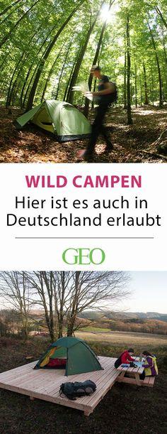 Wild campen in Deutschland: Abseits der Campingplätze laden offizielle Übernachtungsplätze zur ungestörten Begegnung mit der Natur ein. Alle Trekkingplätze in Deutschland stellen wir im Artikel vor