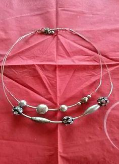 Kaufe meinen Artikel bei #Kleiderkreisel http://www.kleiderkreisel.de/accessoires/ketten-and-anhanger/111218796-silberschwarze-kette-kurz