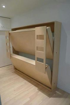 Space saving room design. Bring back the Murphy bed