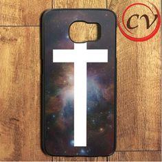 Galaxy Nebula White Cross Samsung Galaxy S7 Edge Case