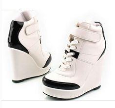 Zapatillas Taco Alto Con Plataforma
