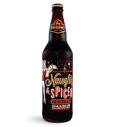 Russell Naughty & Spiced Porter. Atmosphere Design for Russell Brewing Company. Label design/branding. Product photography.