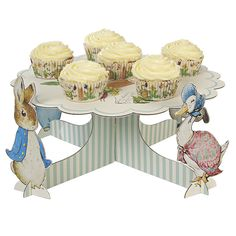 Peter Rabbit Themed Cupcake/Cake Stand by Meri Meri - birthday party and baby shower supplies, decorations, ideas - Contact Things & Stuff Events to purchase https://www.etsy.com/shop/ThingsandStuffEvents
