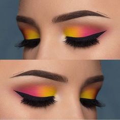Two Tine Colorful Eye Make up Ideas & Tutorials