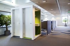 Pod phone booths in the energy company gasum's cosy and spacious activity-based office Phone Gadgets, Phone Hacks, Energy Companies, Living At Home, Phone Photography, Phone Stand, Office Phone, Phone Covers, Cosy