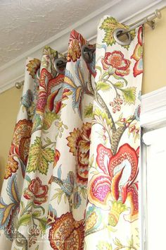 How To Make No Sew Curtains with Grommets - MAKE YOUR OWN CURTAINS - artsychicksrule #nosewcurtains #grommets