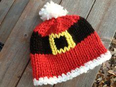 Ravelry: Santa Belly Hat pattern by Amy Gillespie.