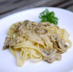 Experimente aus meiner Küche: Pasta mit Champignon-Rahm-Soße