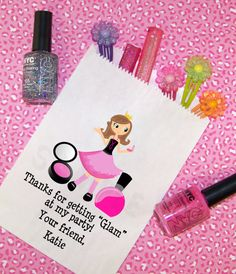 Glamour Spa Birthday Party, Candy Bags, Goody Bags, Party Favor Bag, Set of 25 via Etsy