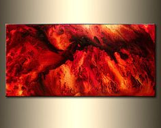 SIZE:48X24X1.58  (HIGH GLOSS FINISH)  TITLE : ECHOS OF HEART    MADE-TO-ORDER PAINTING - Original Contemporary Modern Abstract Painting by Henry parsinia.  The painting will be similar to the one you see here, that I have already sold. The painting will be signed by me and will be shipped directly from my studio.      This Contemporary abstract modern painting was painted on gallery wrapped acid free canvas. Only fine quality art materials have been used.  edges are staple free , and…