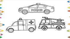 how to draw a police car | Easy step by step drawing for ...