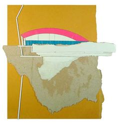 Found cardboard collage constructions by Ryan Sarah Murphy.