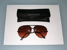 1980s SERENGETI Drivers / Large AVIATOR Sunglasses with Case by Corning Optics / Free US Shipping by CookieGrandma60 on Etsy, $135.00