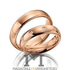 #verighete #aurroz model MDV 5091 #aur #roz pentru o #nunta de vis! Aur, Bangles, Bracelets, Model, Jewelry, Fashion, Crystal, Diamond, Jewellery Making