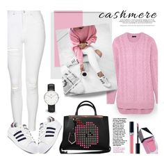Cozy Cashmere Sweater... by unamiradaatuarmario on Polyvore featuring polyvore, fashion, style, J.Crew, Topshop, adidas Originals, Fendi, Daniel Wellington, Christian Dior and GUiSHEM