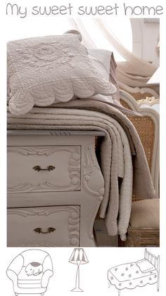 quilted bed cover shabby and chic