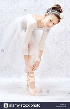 27d8d946f Download this stock image  Cute little ballerina before crucial performance  - DTN0ED from Alamy s library