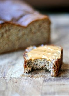 Paleo Banana Bread: 3 very ripe bananas (about 1 ½ cups) mashed 3 eggs 2 tsp vanilla extract 1 tsp almond extract (optional, but we love it!) 1 tablespoon honey (agave or maple would work too) ¼ cup coconut oil, melted 2 cups almond meal (I get mine at Trader Joe's) ½ teaspoon salt 1 teaspoon baking soda