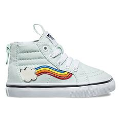 6cf99f5965f Toddler Rainbow Sidestripe SK8-Hi Zip Cute Outfits For Kids