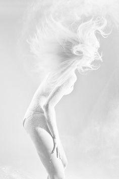 White world lady, girl, figure, all white