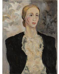 Portrait of a woman (Tatiana Ryabushinskaya) - Natalia Goncharova (Russian: 1881 - 1962)