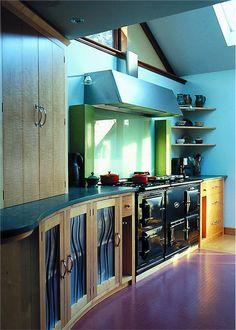 Contemporary (Modern, Retro) Kitchen by Johnny Grey