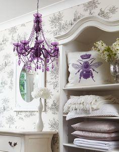 Delightfully romantic in deep purple