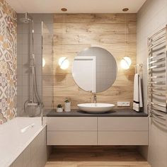 Эта кухня шикарна и в первом, и во втором варианте! А какое цветовое сочетание вам нравится больше? #ideidizajna_кухня Автор:… Modern Bathroom Design, Bathroom Interior Design, Bathroom Colors, Small Bathroom, Small Apartment Interior, Bathroom Styling, House Design, Decoration, Environment