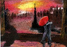 """""""End of the Day One"""" SFA Small Format Art Collection by Ann Trenga on Etsy SFA - End of the Day - Small format artworks - please check out the wonderful art in this treasury on Etsy. Thank you."""