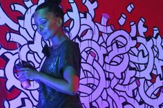 Noumeda Carbone live painting.  Acrylic on canvas 250cm x 200cm. **Monday Jazz** organized By Stefano Tamborrino.  With Stefano Tamborrino ,Simone Graziano, Emanuele Parrini, Max Sorrentini, Claudio Ingletti.    Photo: Gabriele Mori   #live #painting #noumeda #art #canvas #artist #at #work