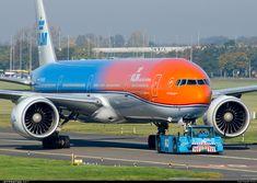 "KLM Royal Dutch Airlines Boeing 777-306/ER in the ""Orange Pride"" livery"