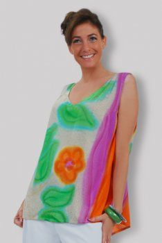 Dress Fits Plus 1X 2X 3X 4X Plus Purple Hand Painted Floral Lace Sleeve NWT G516