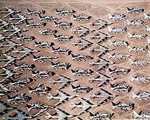 Retired B-52s are stored in the boneyard at Davis-Monthan Air Force Base.