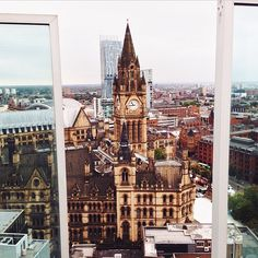 A view of Manchester Town Hall with Beetham Tower in the distance. This photo originally appeared on the @WeAreMCR Instagram account and was taken by IG user 'Moeen Kurdi'.