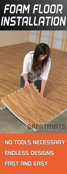 One of the easies DIY floors to install, Foam Floor Tiles can make you feel like a professional.