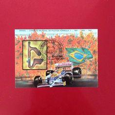 Brasil Campeão Mundial de Fórmula 1 [1988] c/ carimbo de primeiro dia  Designer: Martius A. do Brasil  #stampcollector #sendmoremail #postage #stamp #stamps #vintagestamps #philately #philategram #philatelic #philatelist #brazilianstamps #filatelia #selos