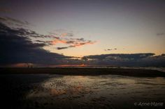 Zonsondergang Slufter, Texel