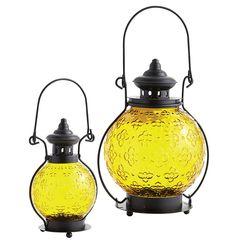 Medallion Glass Lanterns $9.95 – $19.95   |   pier1.com