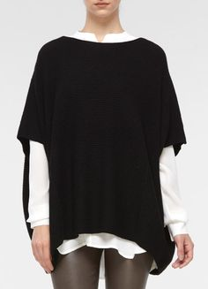 ribbed poncho sweater  Vince Fall 2012