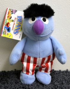Stuffed Animal: Sesame Street 8 Plush Herry Monster Bean Bag Doll * Click image to review more details.