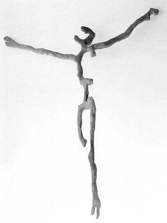 Foto. Michel Zabé   'Savior of Auschwitz II' by Mathias Goeritz, wood, 1951