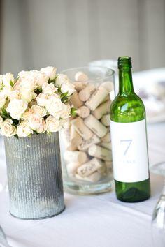 Love the aluminum flower vase...