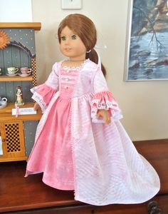 American Girl Doll Clothes, Felicity, Letter to Elizabeth, Dress (Gown) and Letter Set. $40.00, via Etsy.