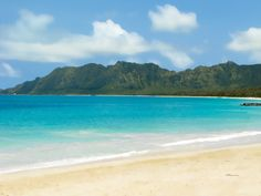 Bellows Beach, Oahu... you can walk out 50ft. or more and still have chest-high water. Awesome beach!