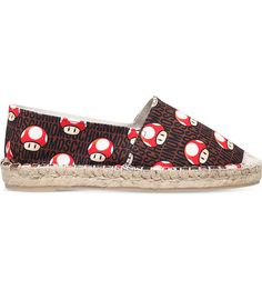 MOSCHINO Super Mario mushroom canvas espadrilles ( 275) ❤ liked on Polyvore  featuring shoes 1edc2c896f9ae