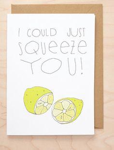 Sweet lemon card