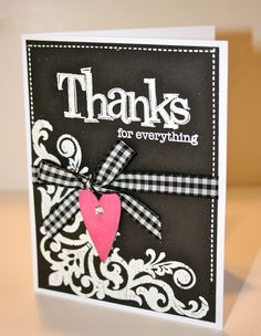 Karen Pedersen: Double Stamp Set for $5 with Close To My Heart, a Layout and a Thank You Card
