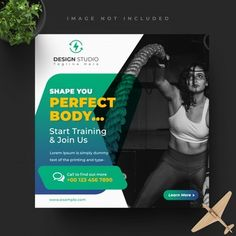 Social Media Banner, Social Media Template, Social Media Design, Fitness Flyer, Instagram Post Template, Design Tutorials, Gym Workouts, How To Find Out, Templates