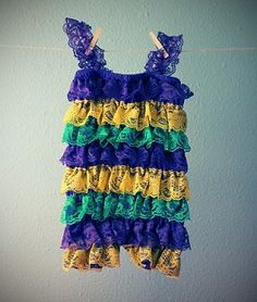 Mardi Gras Lace Petti Romper - the cutest thing you have ever seen!!
